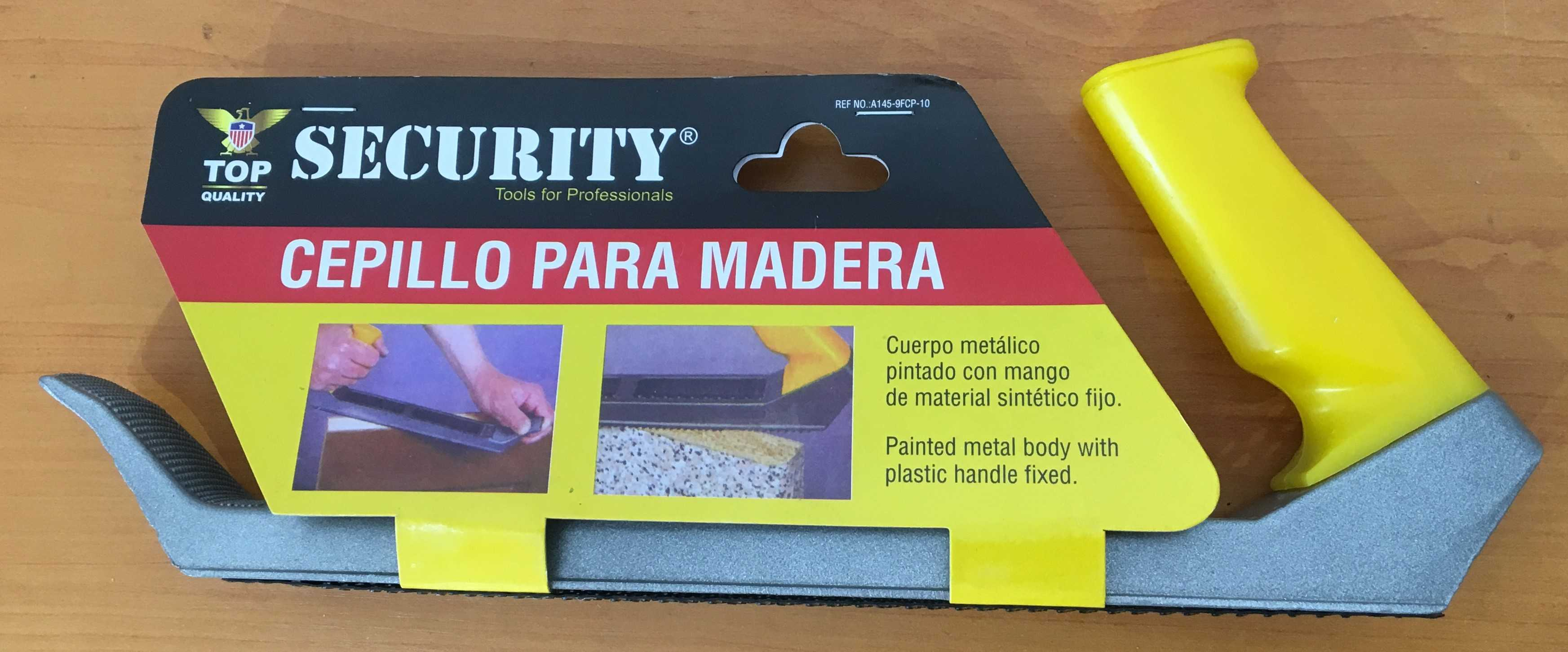 Cepillo Para Carpinetero. A145-9FCP-10. Marca: SECURITY
